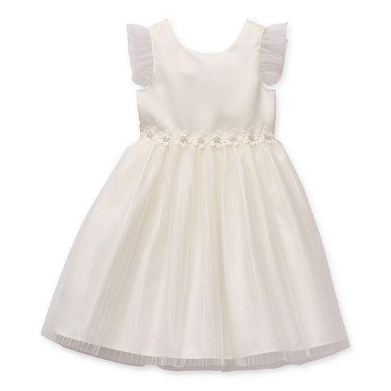 Btween Flower Girl Little Girls Embellished Sleeveless Party Dress