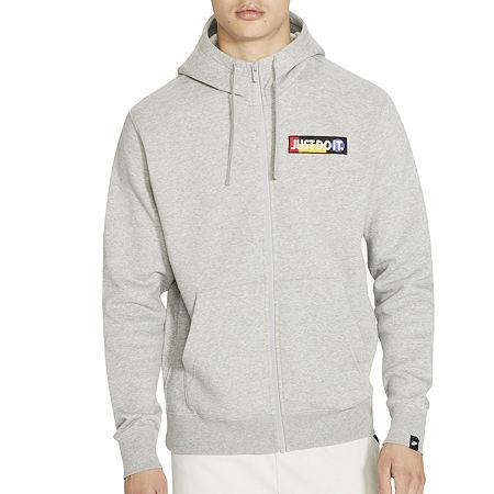 Nike Mens Long Sleeve Hoodie. Small . Gray