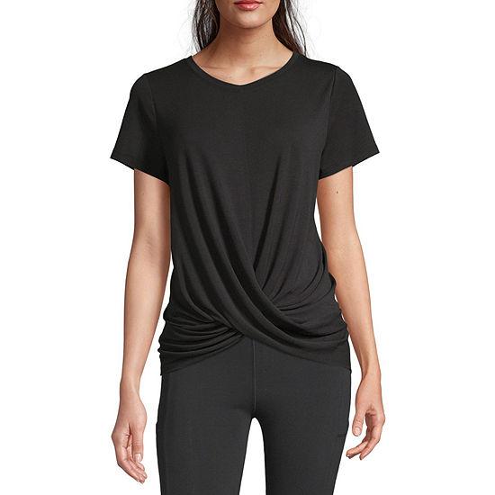 Xersion Womens Crew Neck Short Sleeve T-Shirt