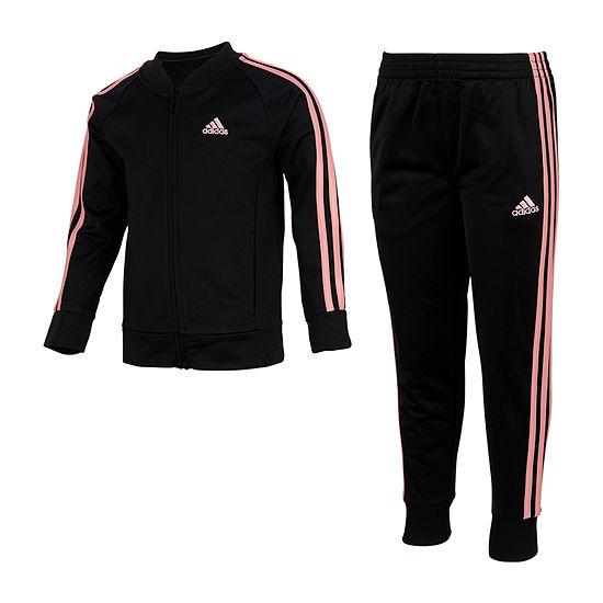 adidas Little Girls 2-pc. Track Suit