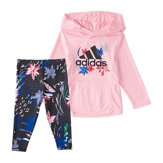 adidas Little Girls 2-pc. Legging Set
