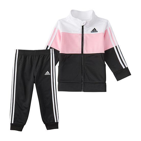 adidas Little Girls 2-pc. Pant Set