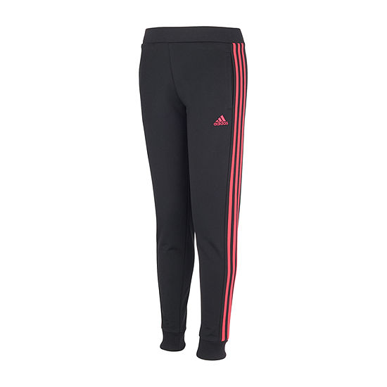 adidas Big Girls Mid Rise Cuffed Jogger Pant