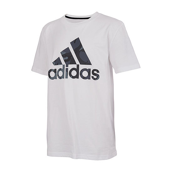 adidas Little Boys Crew Neck Short Sleeve Graphic T-Shirt