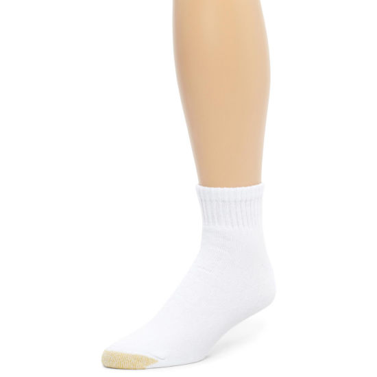 Gold Toe® 6 Pair Athletic Quarter Socks - Extended Sizes