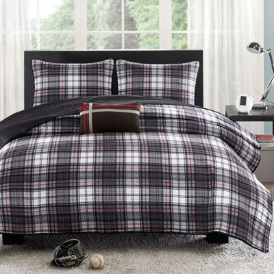 Mi Zone David Plaid Quilt Set