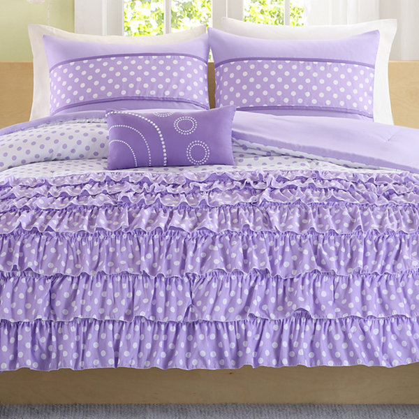 Mi Zone Ellen Ruffled Polka Dot Comforter Set