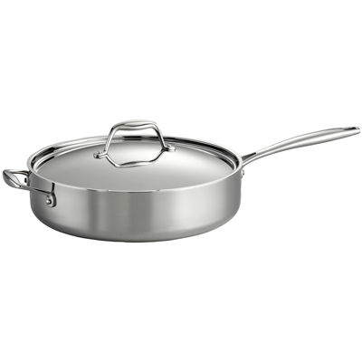 Tramontina Gourmet 5-qt. Tri-Ply Clad 18/10 Stainless Steel Induction-Ready Deep Sauté Pan with Lid