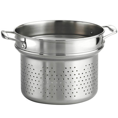 "18/10 Stainless Steel 9½"" Pasta Insert for Tramontina Gourmet 8-qt. Tri-Ply Clad Stock Pot"