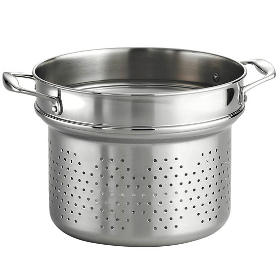 """18/10 Stainless Steel 9½"""" Pasta Insert for Tramontina Gourmet 8-qt. Tri-Ply Clad Stock Pot"""