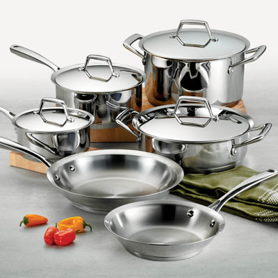 Tramontina Gourmet Prima 10-pc. 18/10 Stainless Steel Induction-Ready Cookware Set