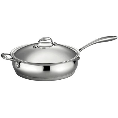 Tramontina Gourmet Domus 5-qt. 18/10 Stainless Steel Induction-Ready Deep Sauté Pan with Lid