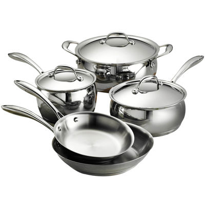 Tramontina Gourmet Domus 8-pc. 18/10 Stainless Steel Induction-Ready Cookware Set