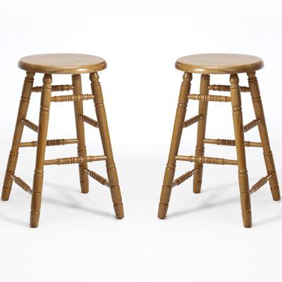 Oakmont Set of 2 Backless Counter-Height Barstools