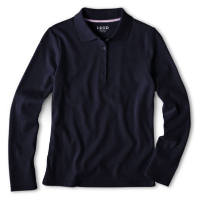 IZOD® Long-Sleeve Polo Shirt - Preschool Girls 4-6x