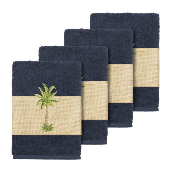 Linum Home Textiles 100% Turkish Cotton Colton Embellished Towel Collection