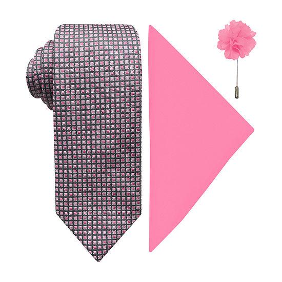 JFerrar Patterned Tie and Pocket Square Sets