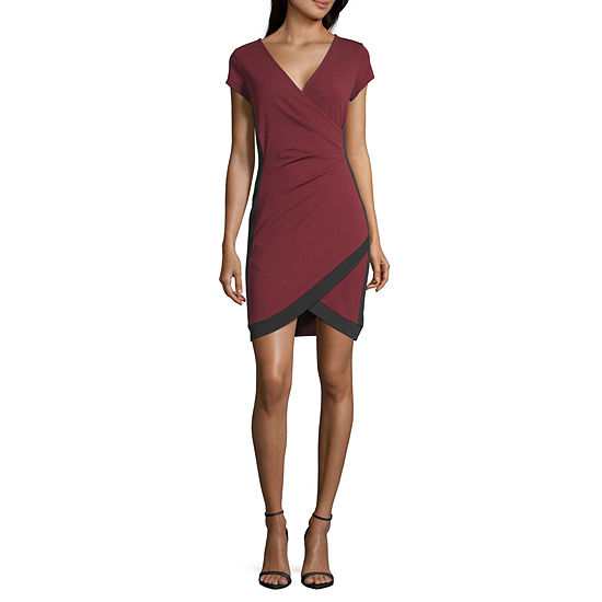 Almost Famous Sleeveless Bodycon Dress-Juniors