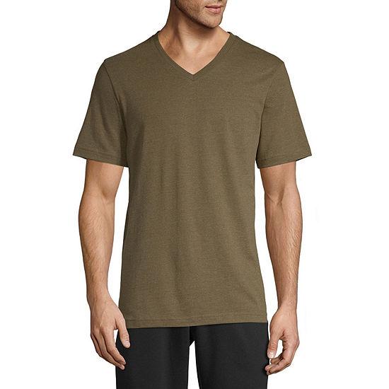 Xersion Cotton Mens V Neck Short Sleeve T-Shirt