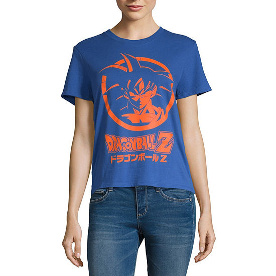 Juniors Womens Round Neck Short Sleeve Graphic T-Shirt