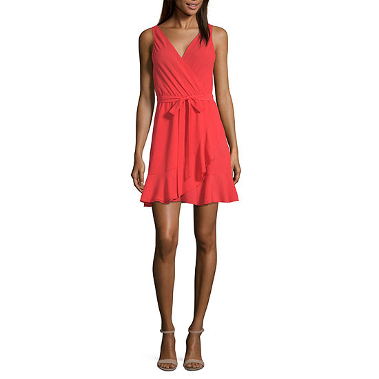 Speechless Sleeveless Wrap Dress Juniors