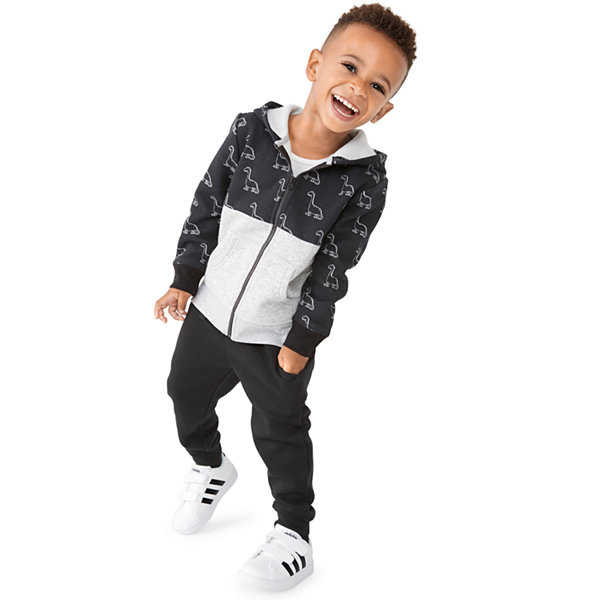 Okie Dokie Boys Cuffed Sleeve Hoodie-Toddler