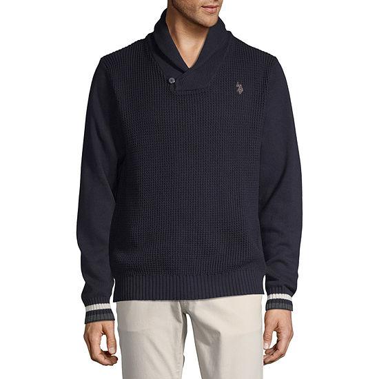 U.S. Polo Assn. Mock Neck Long Sleeve Pullover Sweater