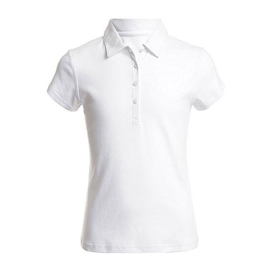 IZOD Adaptive Little & Big Girls Short Sleeve Polo Shirt