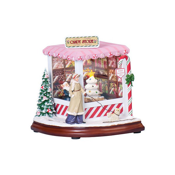 Christmas Candy Shop Music Box