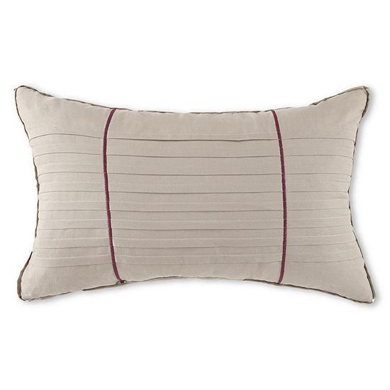 Liz Claiborne® Plum Garden Oblong Decorative Pillow