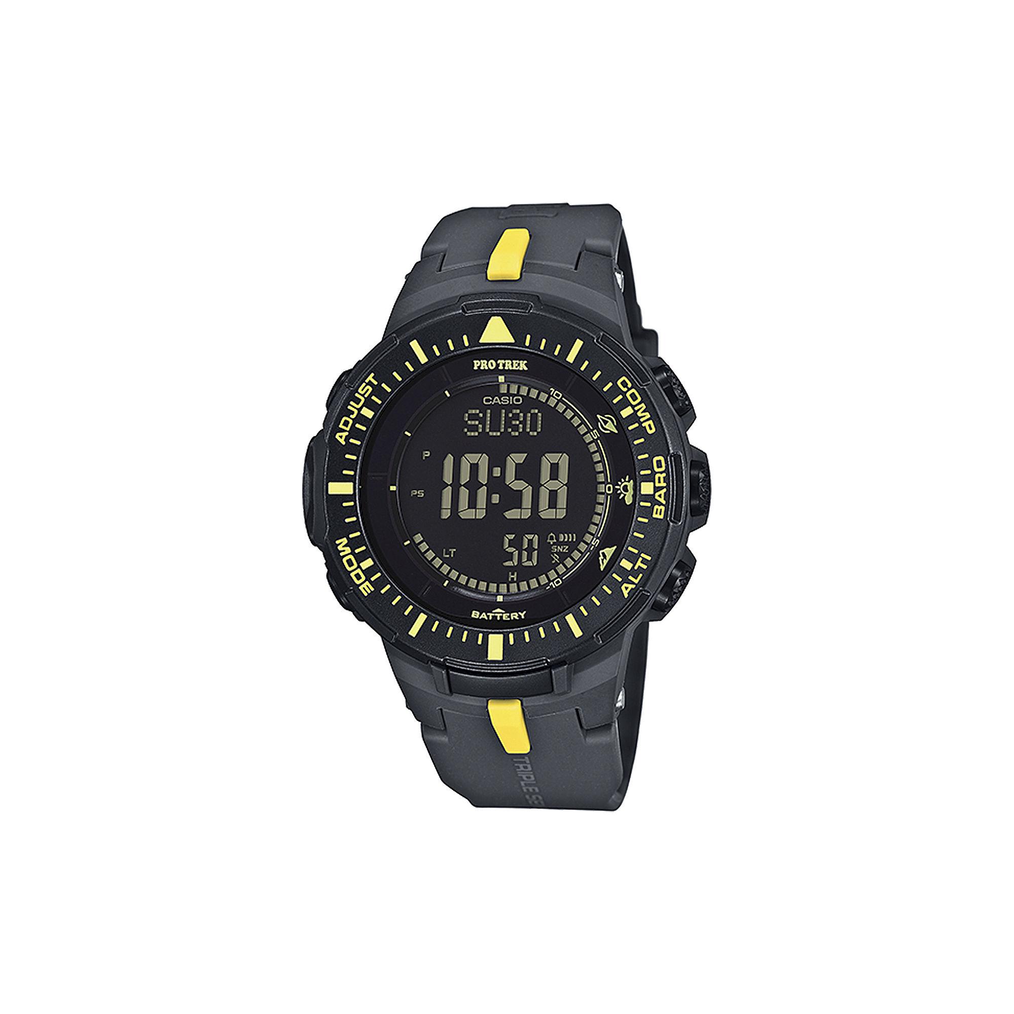 Casio Pro Trek Tough Solar Triple Sensor Mens World Time Watch PRG300-1A9CR