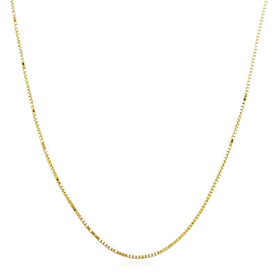 """Made in Italy 14K Yellow Gold 20"""" Semi-Solid Box Chain Necklace"""