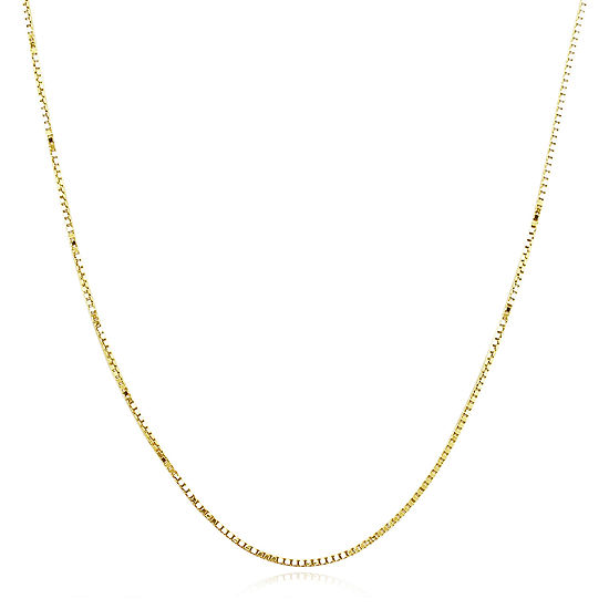 Made in Italy 14K Gold 20 Inch Hollow Box Chain Necklace