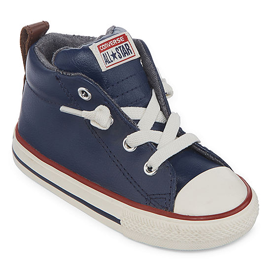 dcf767429ab Converse Chuck Taylor All Star Street Leather And Fleece Mid Boys Sneakers  - Toddler - JCPenney