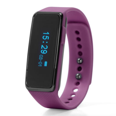 NuBand Activ+ Activity And Sleep Tracking Unisex Purple Strap Watch-Nu-G0002-Pp