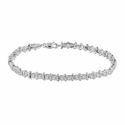 1/2 CT. T.W. Genuine White Diamond 10K Gold 7 Inch Tennis Bracelet