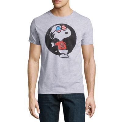 Short Sleeve Peanuts Animal Graphic T-Shirt