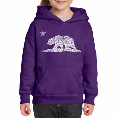 Los Angeles Pop Art California Bear Long Sleeve Girls Word Art Hoodie