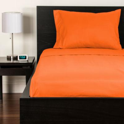 Crayola Outrageous Orange Microfiber Sheet Set