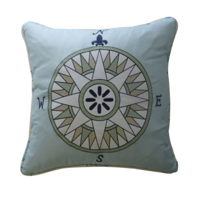 Waverly Buon Viaggio Square Throw Pillow