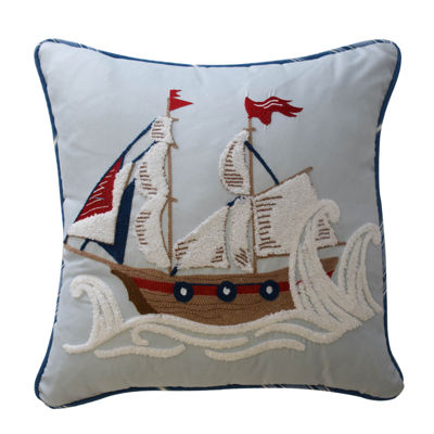 Waverly Ride The Waves Square Throw Pillow