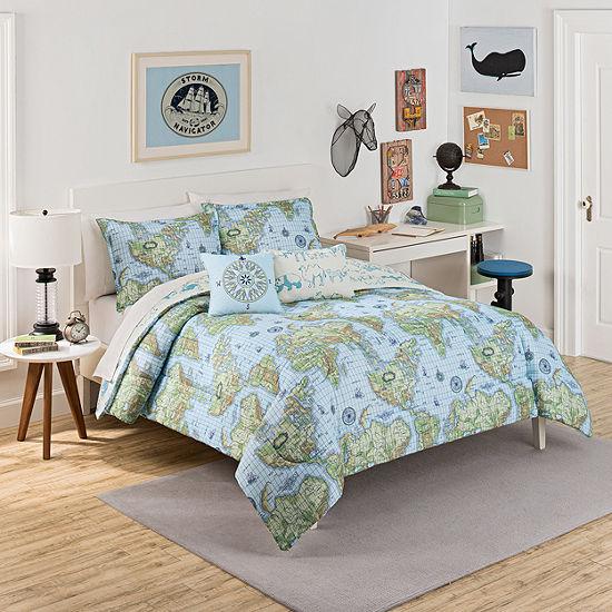 Waverly Buon Viaggio Reversible Comforter Set