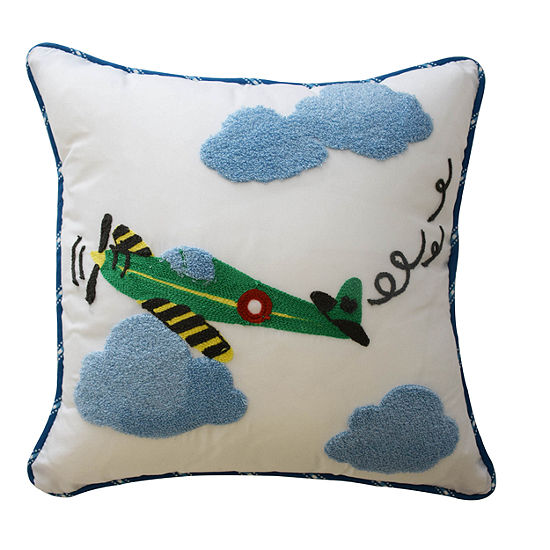 Waverly In The Clouds Square Throw Pillow