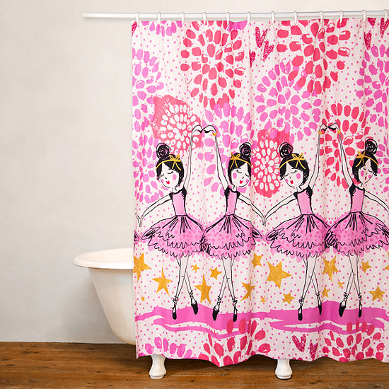 Crayola Twinkle Toes No Liner Shower Curtain