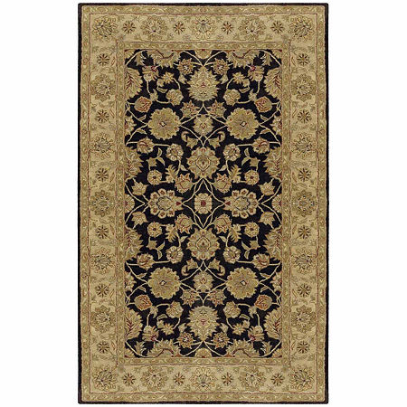 Decor 140 Justinian Hand Tufted Rectangular Indoor Rugs, One Size , Black
