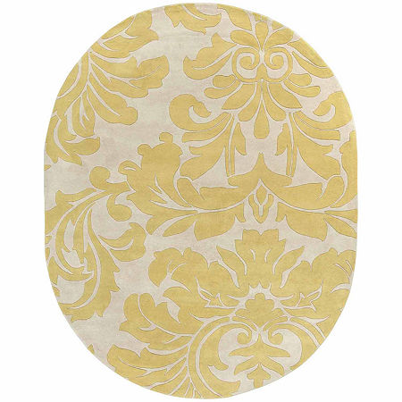 Decor 140 Vlore Hand Tufted Oval Indoor Rugs, One Size , Brown