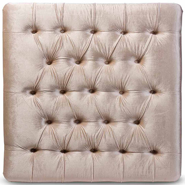Baxton Studio Edna Square Tufted Bench