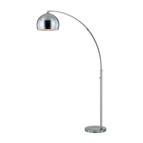 """TENBURY WELLS Alrigo 80"""" LED Arched Floor Lamp With Dimmer"""