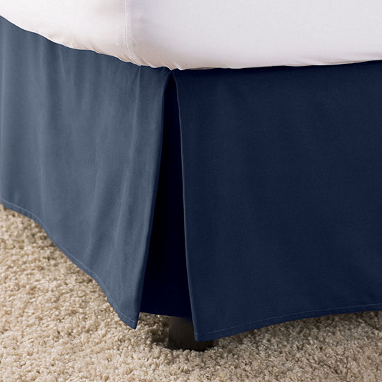 Elegant Comfort Wrinkle Fade Resistant Bed Skirt Dust Ruffle - Pleated Tailored 14inch Drop