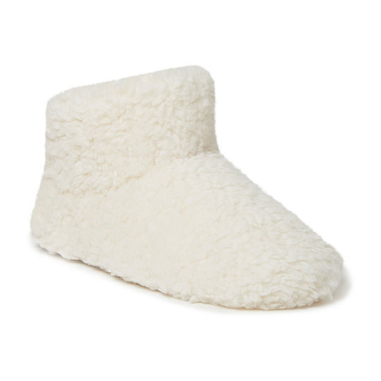 Dearfoams Fluffy Pile Womens Bootie Slippers